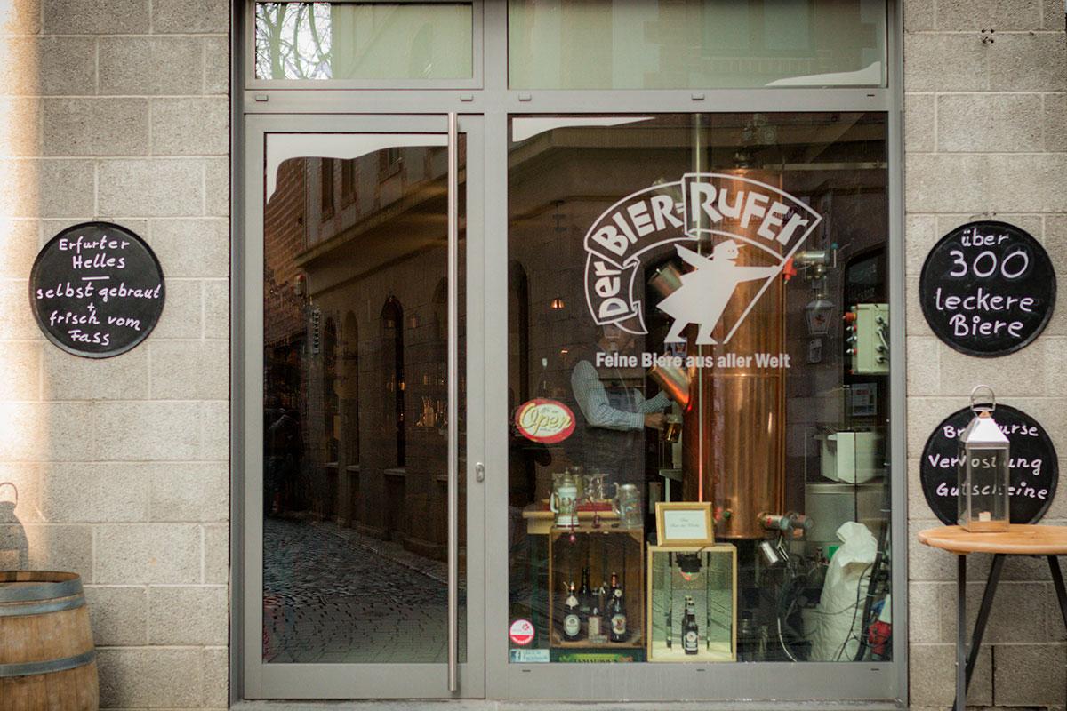Der Bierrufer in der Michaelisstraße in Erfurt